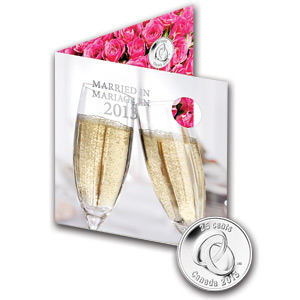 2013 Wedding 5-Coin Gift Set With Rings Quarter & Card - RCM